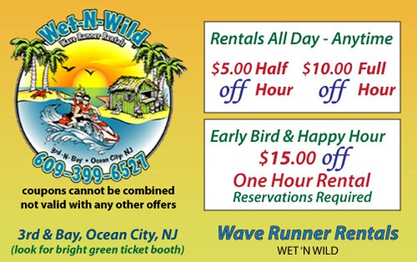 weth-N-Wild Wave runner rentals coupon